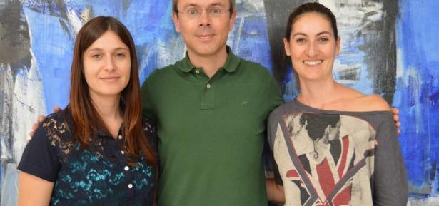 Simone Júlio, Nelson Dias, presidente da direção da associação In Loco, e Vânia Martins