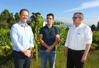 Equipa do CITAB-UTAD envolvida no estudo: (da esquerda para a direita) João Santos,  Helder Fraga e Aureliano Malheiro.