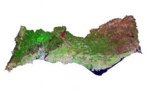Incêndio de Messines captado pelo satélite Landsat 8