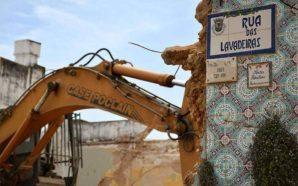 A demolição do Grémio Olhanense
