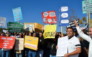 Técnicos de Diagnóstico protestaram à porta do CHUA em Portimão