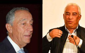 Marcelo Rebelo de Sousa e António Costa no congresso da…