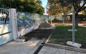 Portaria em construção na Escola EB1 nº1 de São Brás…