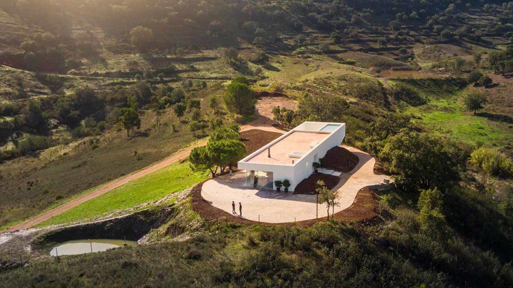 Vista aérea do projeto algarvio