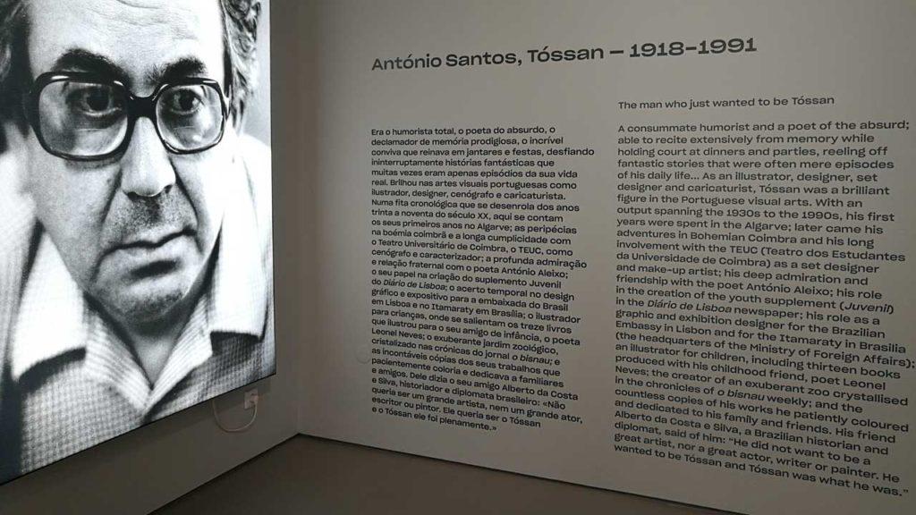 inaugurada a exposição «O homem que só queria ser Tóssan»