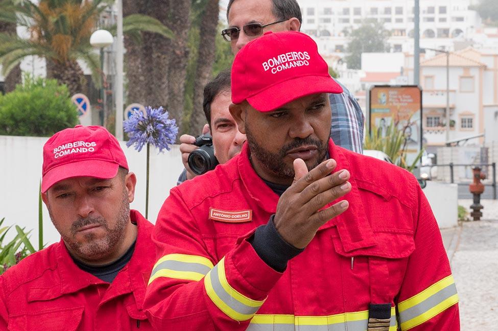 Abel Zua, Bombeiros Voluntários de Albufeira