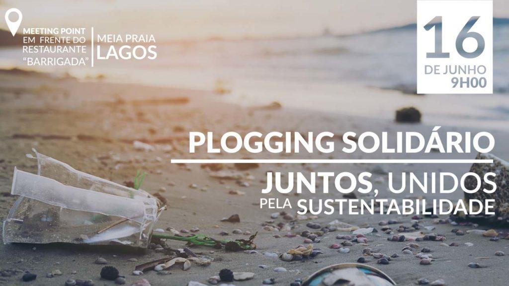 Recolha de lixo aliada a exercício físico acontece na Meia Praia, em Lagos