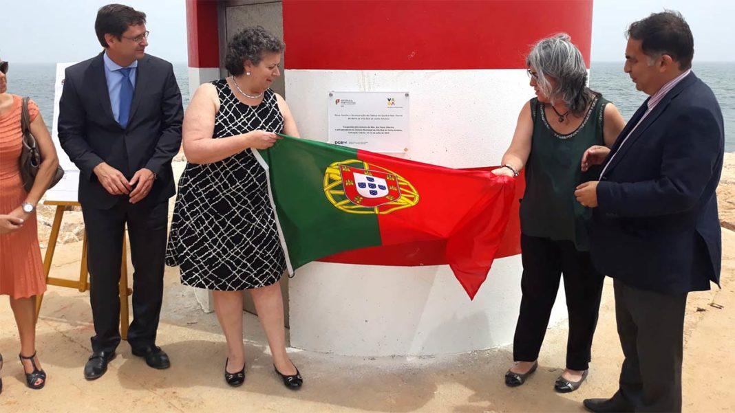 Ministra do Mar inaugura novo Farolim e Reconstrução da Cabeça do Quebra-mar da barra de Vila Real de Santo António