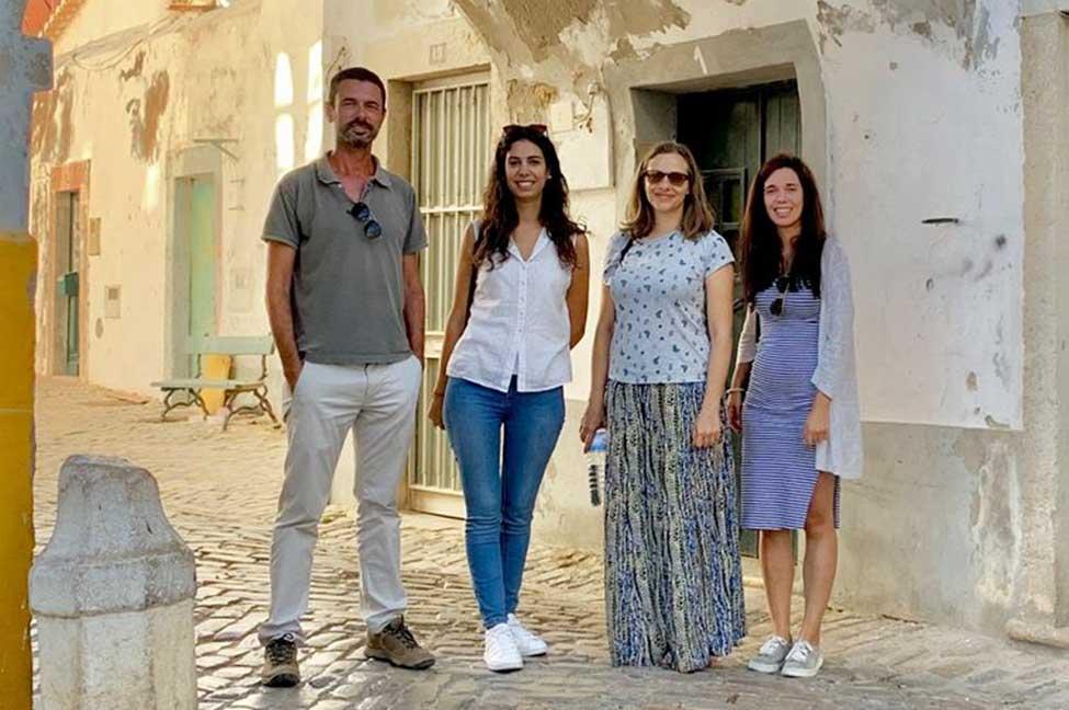 Miguel Lago, Patrícia Monteiro, Rita Dias e Eliana Correia. Era Arqueologia no Algarve.