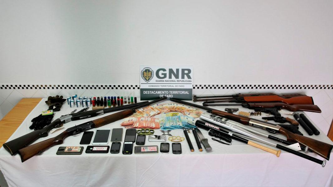 Detidos em Faro pela GNR