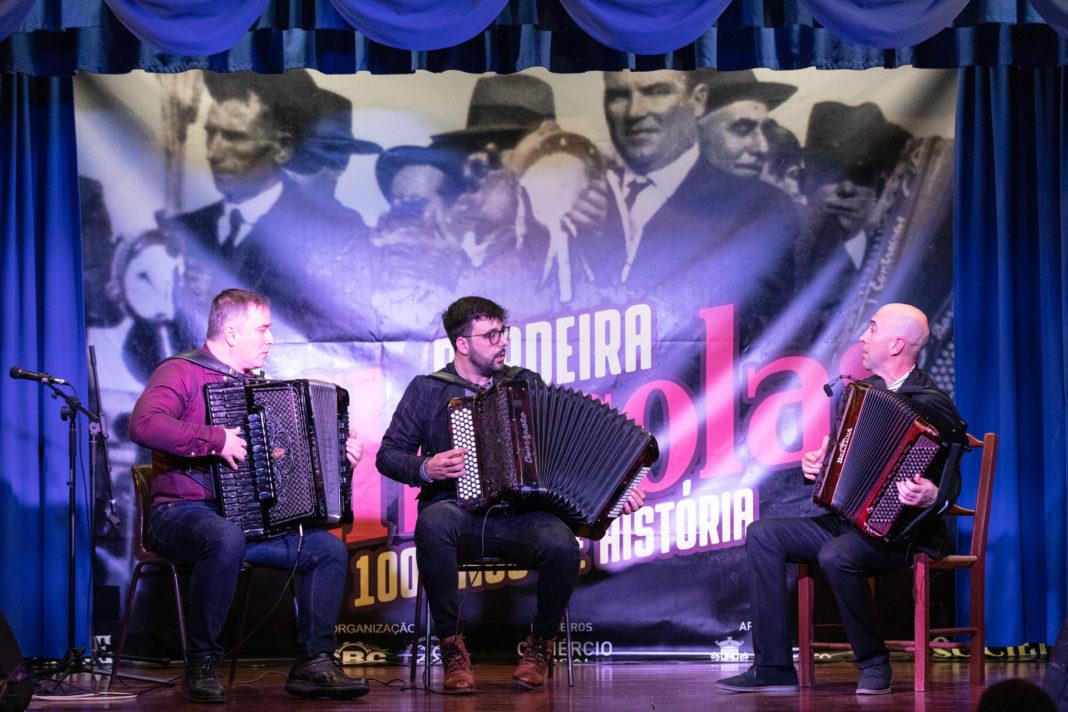 Iurie Chiforisin, João Frade e Nelson Conceição na Sociedade Recreativa Bordeirense.