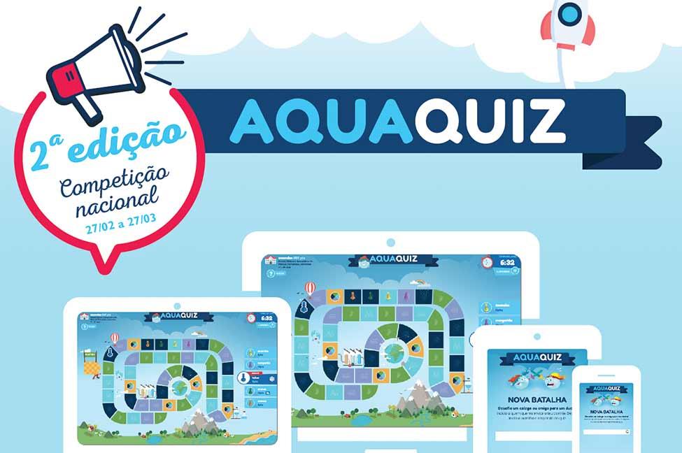 A competição nacional do jogo «Aquaquiz», promovido pelo Grupo AdP - Águas de Portugal, está de volta às escolas do 2º e 3º Ciclos do Ensino Básico, até dia 27 de março.