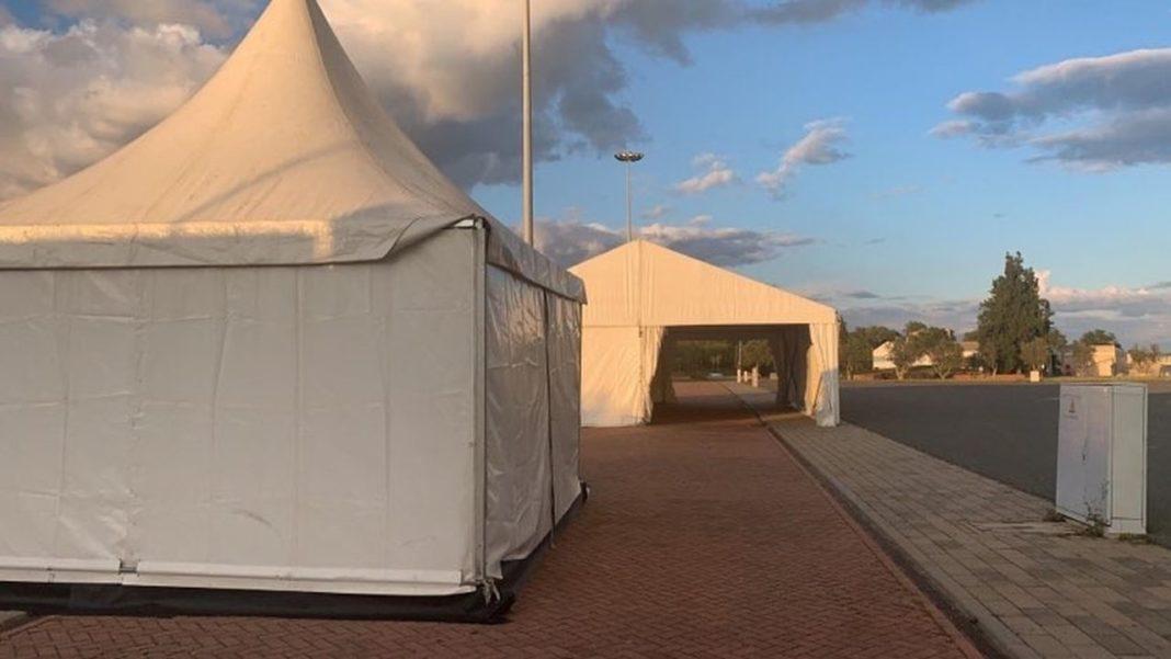 Centro de rastreio móvel para diagnosticar Coronavírus (COVID-19) vai funcionar no Portimão Arena.