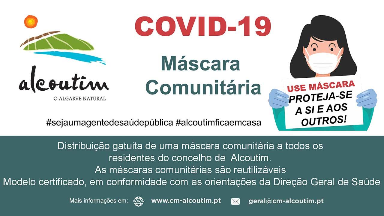 Na sequência das medidas que o município de Alcoutim tem implementado com vista à redução do risco de contágio através do novo Coronavírus, a autarquia iniciou hoje, dia 19 de maio, a primeira fase de entrega de máscaras comunitárias à população, à qual se seguirão outras.