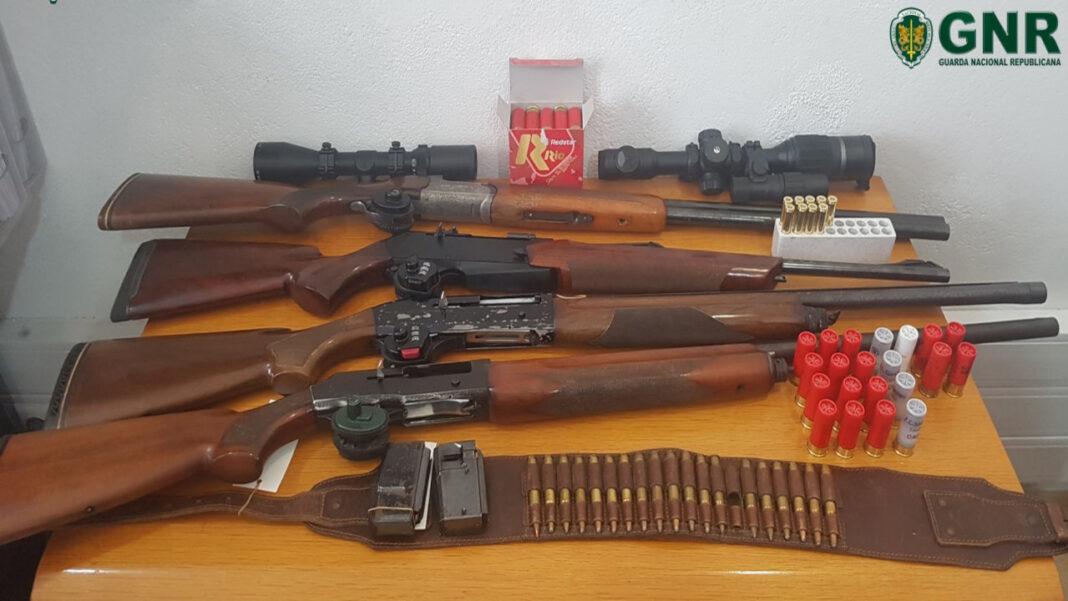 GNR apreende armas a homem em Tavira