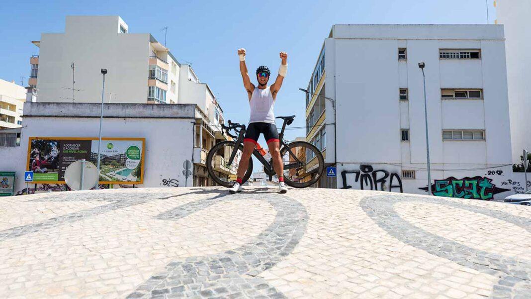 Campeão europeu de Downhill Gonçalo Bandeira fez a EN2 até Faro
