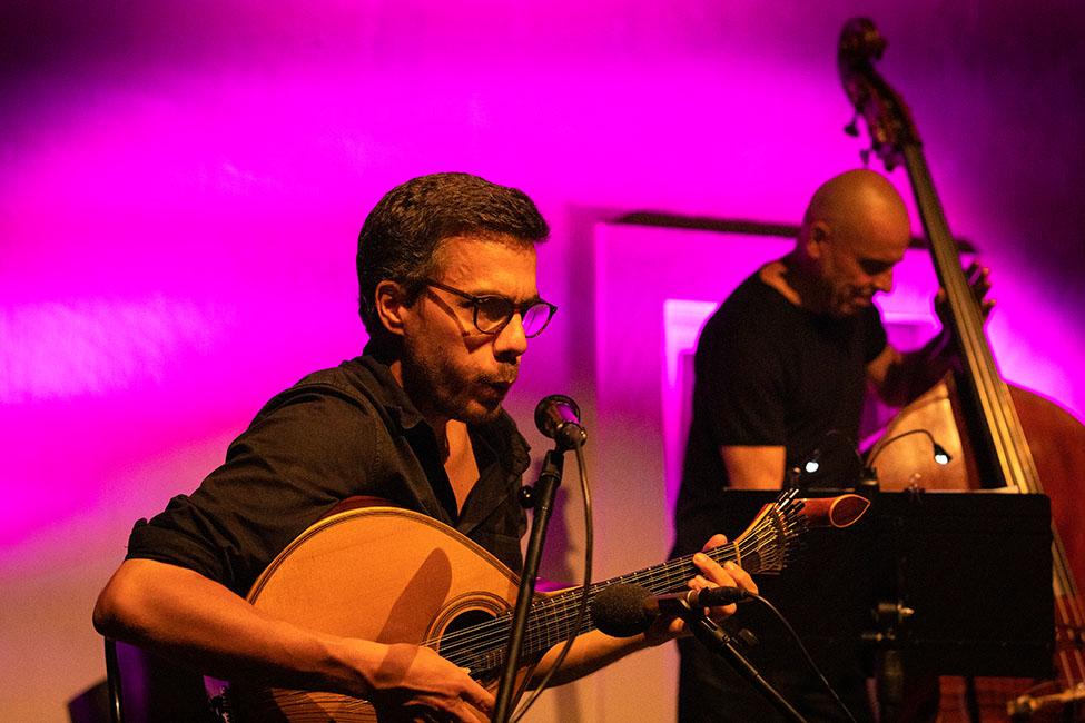 Bernardo Couto no «Jazz no Palácio».