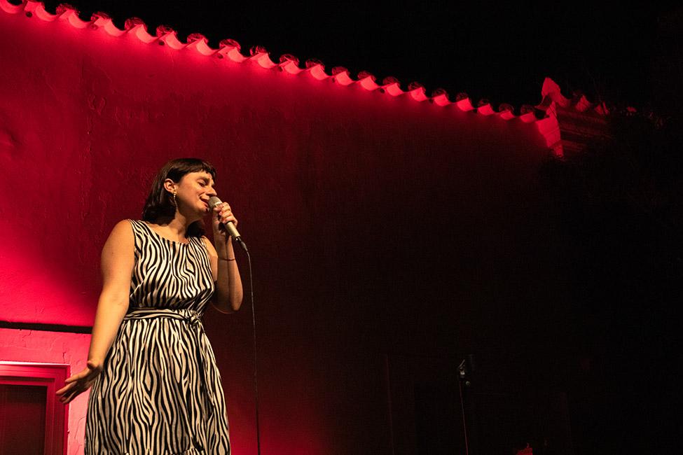 Rita Maria cantou no Jazz no Palácio, em Tavira.