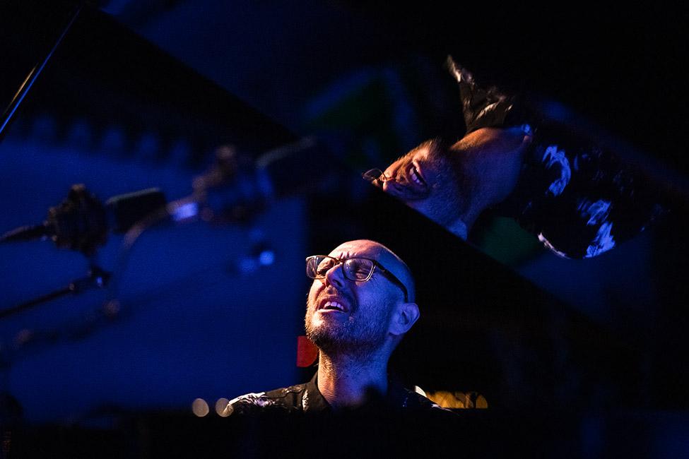 Filipe Raposo a tocar no «Jazz no Palácio».