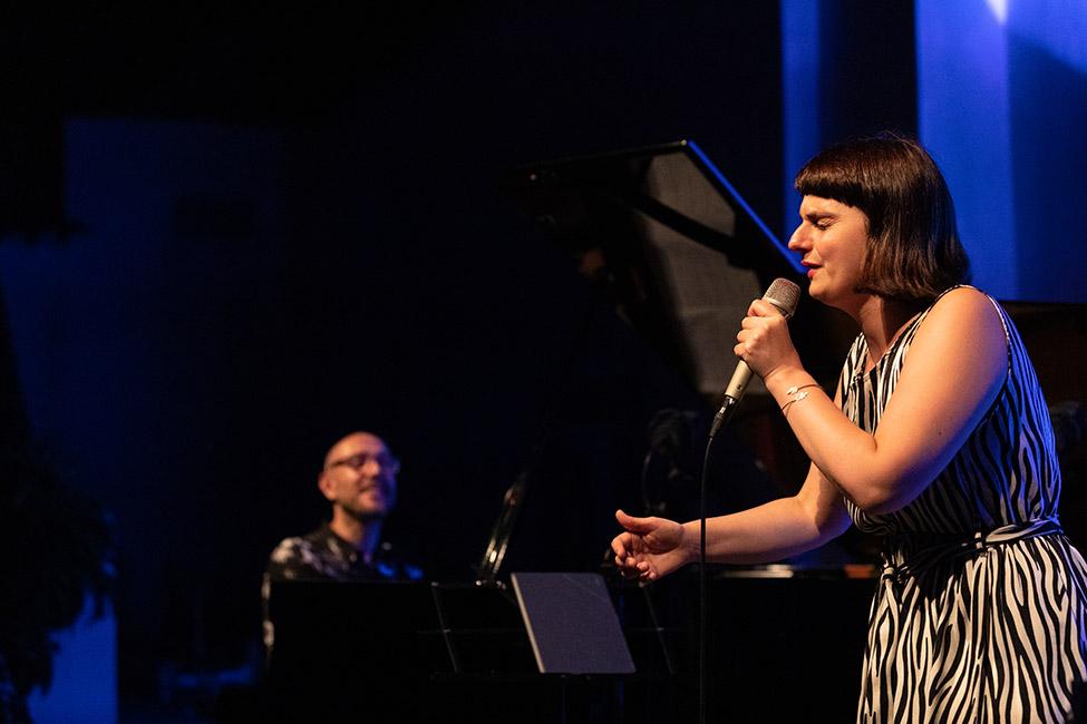 Filipe Raposo e Rita Maria no «Jazz no Palácio».