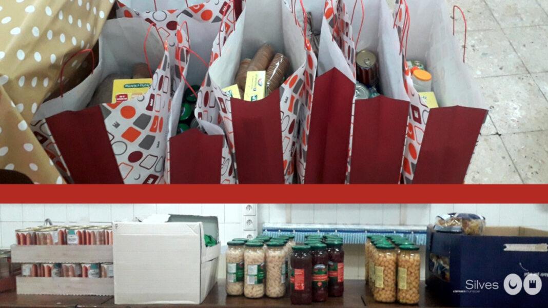 Cabazes doados pela comunidade estrangeira de Silves