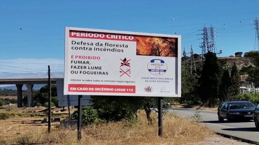 Alerta de incêndios no concelho de Portimão