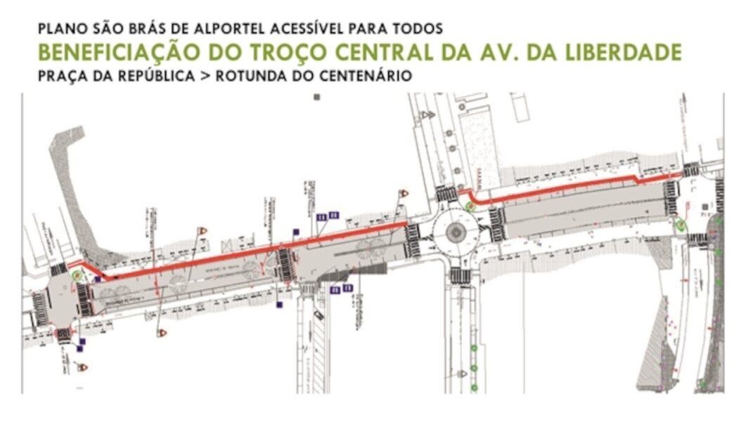 Avenida da Liberdade em São Brás de Alportel