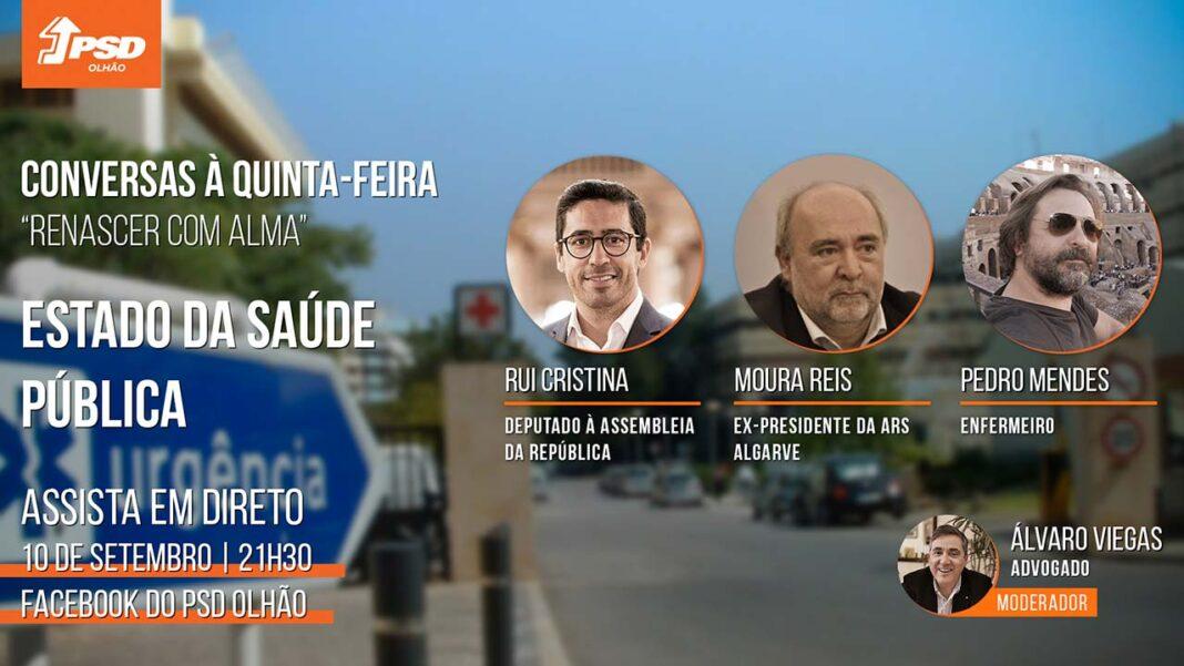 No rescaldo de uma pandemia que pôs à prova a resposta do Serviço Nacional de Saúde, o PSD Olhão vai analisar o estado da saúde pública em videoconferência.