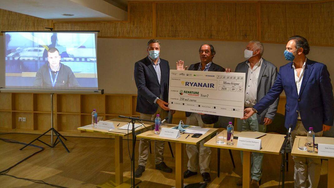 Pelo segundo ano consecutivo a low cost irlandesa reforçou o donativo para mitigar as consequências do incêndio de 2018 em Monhique. Ryanair já doou meio milhão de euros.