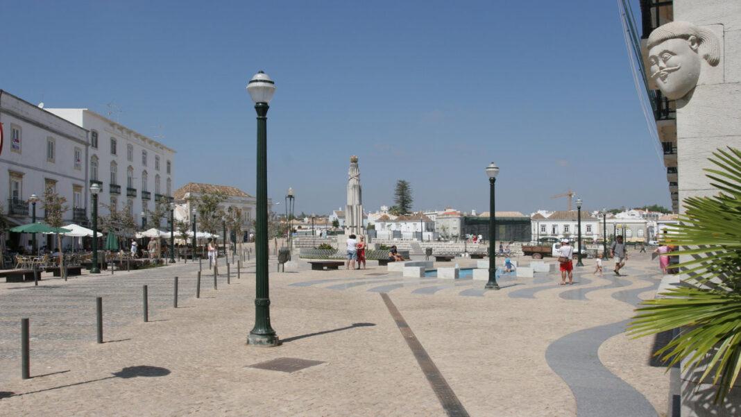 Praça da República em Tavira