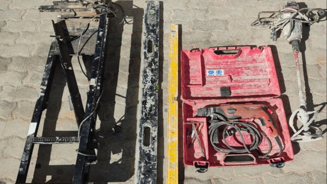 Recuperação de material de obra furtado