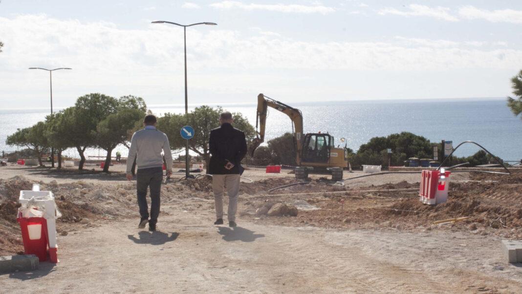 Luís Encarnação visitou obras em Lagoa e Carvoeiro