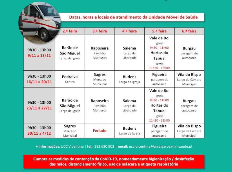 Cartaz Vacina da Gripe em Vila do Bispo