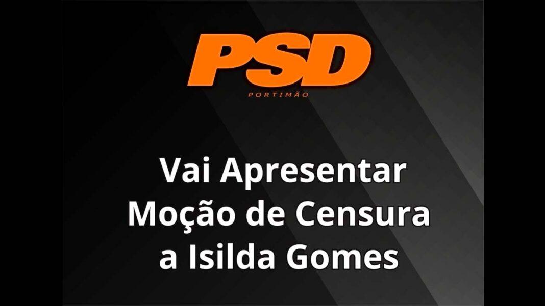 O Partido Social Democrata (PSD) avança com a apresentação de um Moção de Censura a Isilda Gomes, presidente da Câmara Municipal de Portimão.