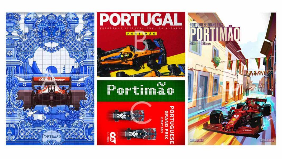 Equipas de Fórmula 1 produzem cartazes que colocam o protagonismo na cidade de Portimão.