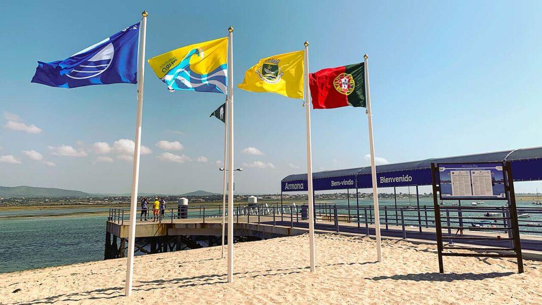 Qualidade de ouro 2021 está atribuída a quatro praias do concelho de Olhão.