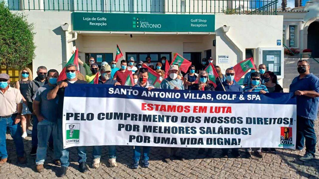 Primeiro dia de greve no Parque da Floresta – Golfe Santo António com adesão de 90 por cento.