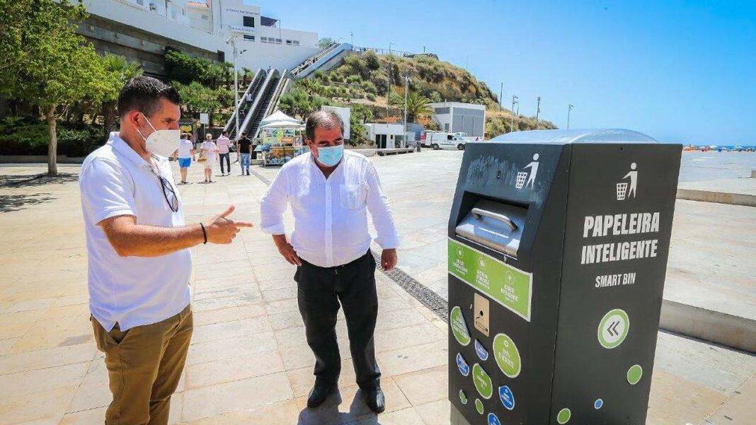 Papeleiras e Compactadores de Resíduos a energia solar já funcionam em Albufeira.