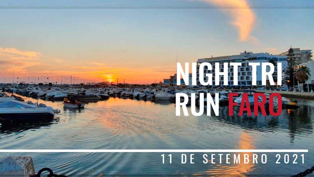 A primeira edição do Night Tri Run Faro, organizada pela NTREVENTS, está marcada para este sábado, 11 de setembro. A NTREVENTS organiza pela primeira vez a Night Tri Run Faro, uma prova de triatlo, de distância olímpica ou standard, constituída por 1,5 quilómetros (km) de natação, 40 km de ciclismo e 10 km de corrida, onde mais de 100 triatletas serão desafiados a concluir a prova em condições únicas e nunca feitas em Portugal.